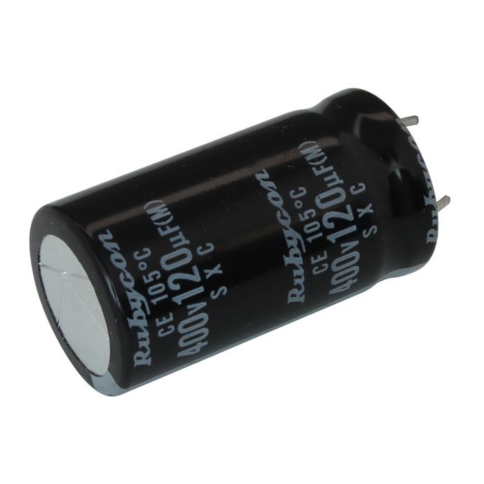 [s089] 電解コンデンサー 400V 120uF 40x22 [Rubycon] (10個)