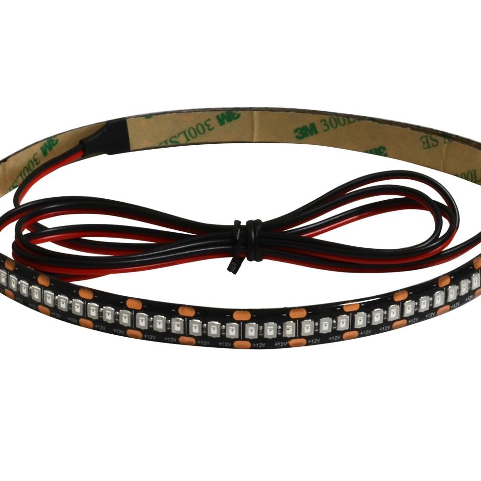 [180cm×1本] 高密度12V(2835/240LED) 防水 LEDテープライト(高品質) 1チップ 180cm [黒ベース | ケーブル長1m]