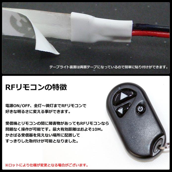 【らくらく300cm×4本セット】 防水1チップ LEDテープライト(RoHS対応) +調光器+対応アダプター付き