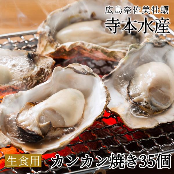 旅サラダ で絶賛 紹介広島牡蠣老舗の味!! カンカン焼き 殻付き牡蠣35個[生食可]