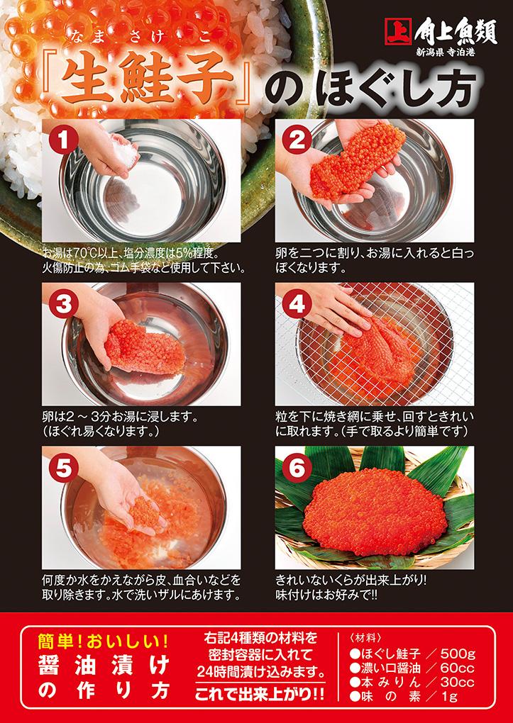 【秋限定】生鮭子 計1kg(2〜6本)