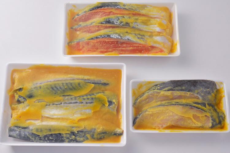 自家製西京風味噌漬3種8切