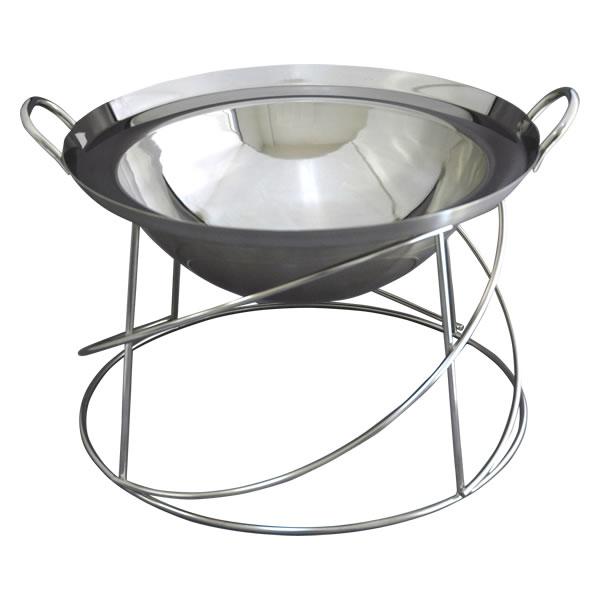 ビュッフェ用中華鍋フード用底平 浅型