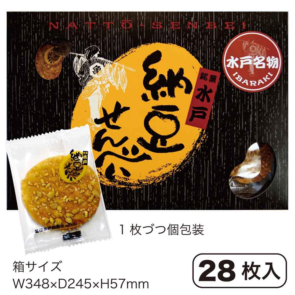 亀印水戸納豆せんべい 11-28枚入