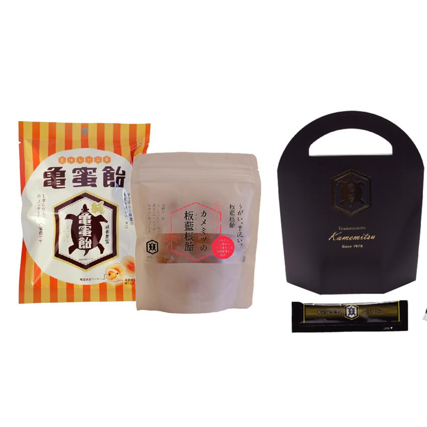 [送料無料] 亀蜜原液スティック20本 + 亀蜜飴1袋 + カメミツの板藍根飴1袋