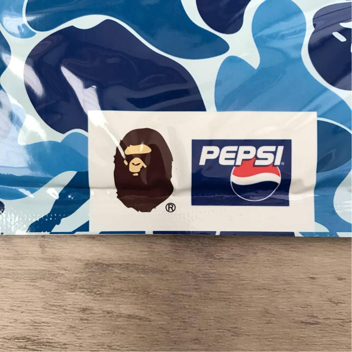★新品★ ape×pepsi バンダナ ape bape pepsi ペプシ コーラ ABCカモ エイプ ベイプ アベイシングエイプ a bathing ape ハンカチ ブルー