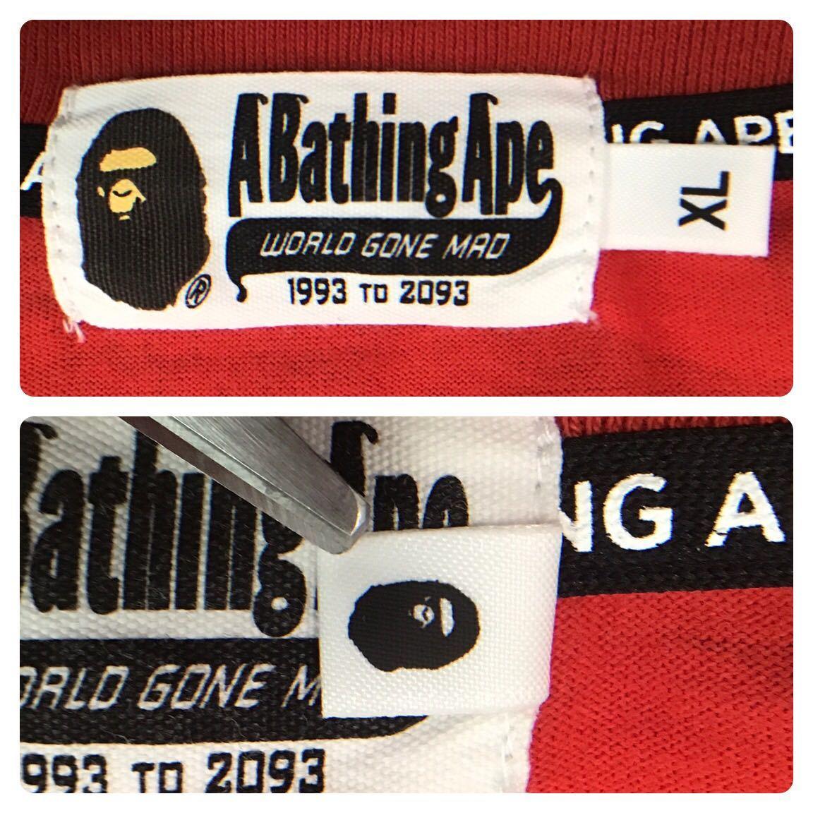 ★XL★ RED CAMO シャーク 長袖 Tシャツ a bathing ape BAPE shark ponr エイプ ベイプ アベイシングエイプ レッドカモ 赤 迷彩 3532