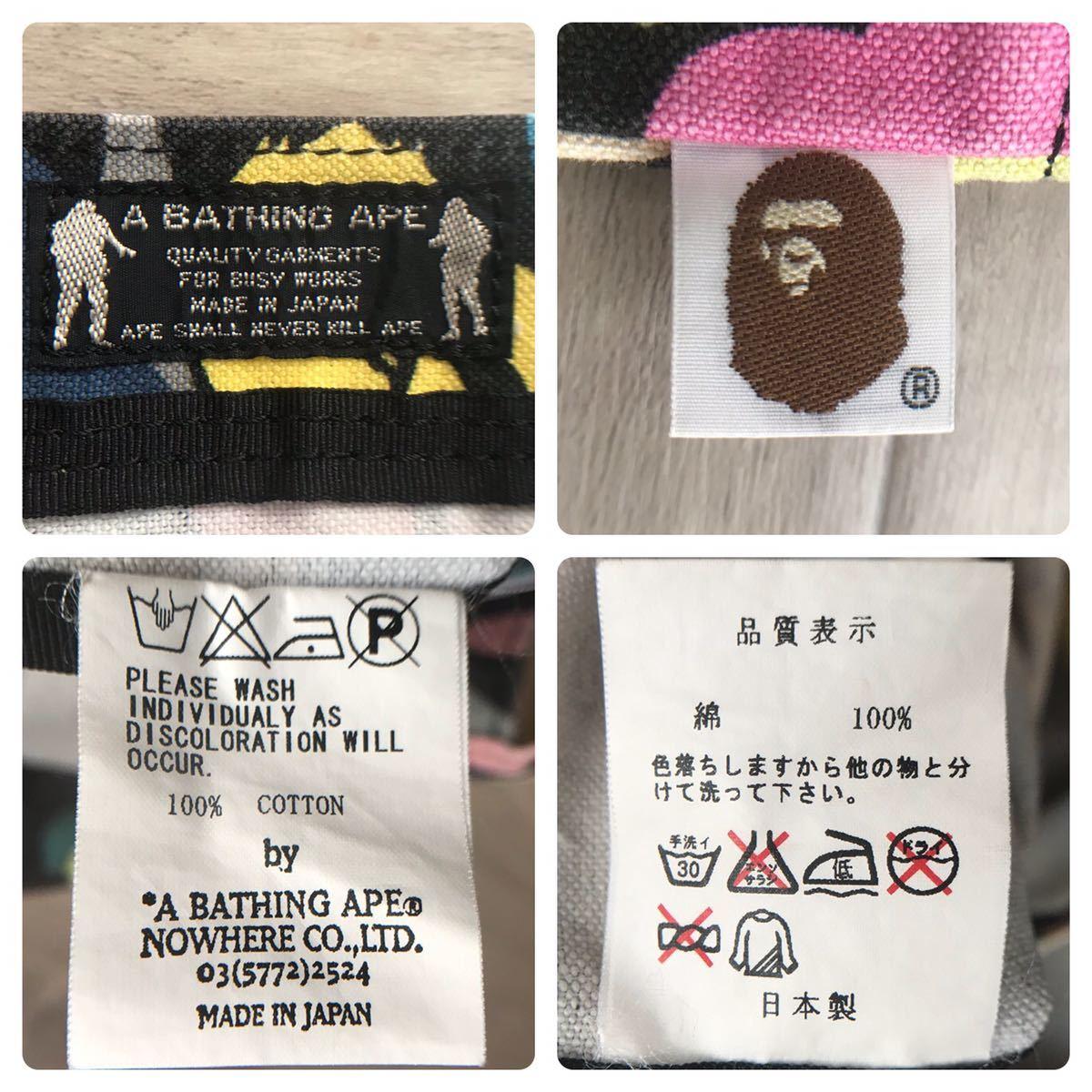 ★初期★ マルチカモ トートバッグ a bathing ape BAPE multi camo tote bag vintage エイプ ベイプ アベイシングエイプ nigo 3209