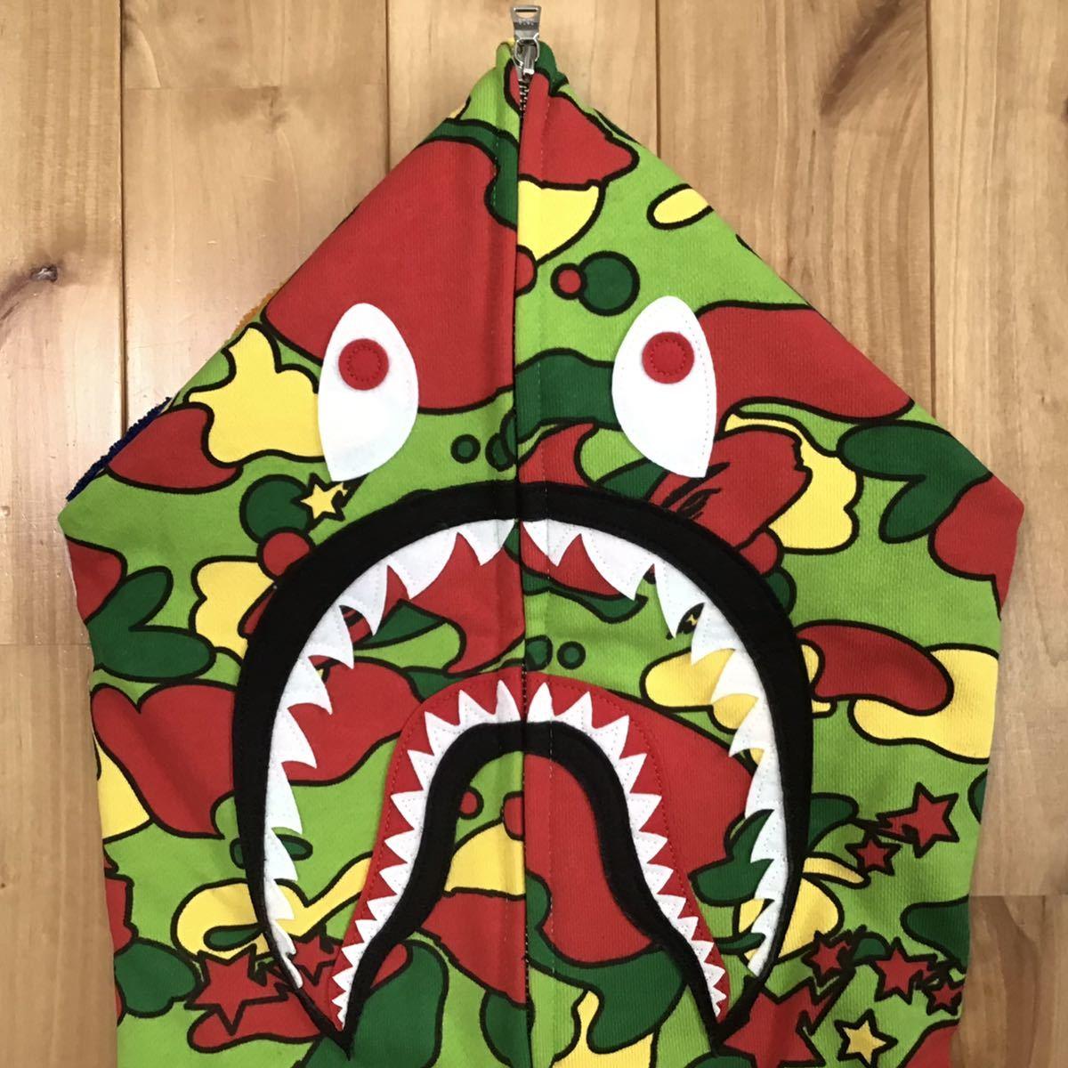 ★新品★ 2XL Psyche camo シャーク パーカー shark full zip hoodie a bathing ape bape エイプ ベイプ アベイシングエイプ sta camo XXL