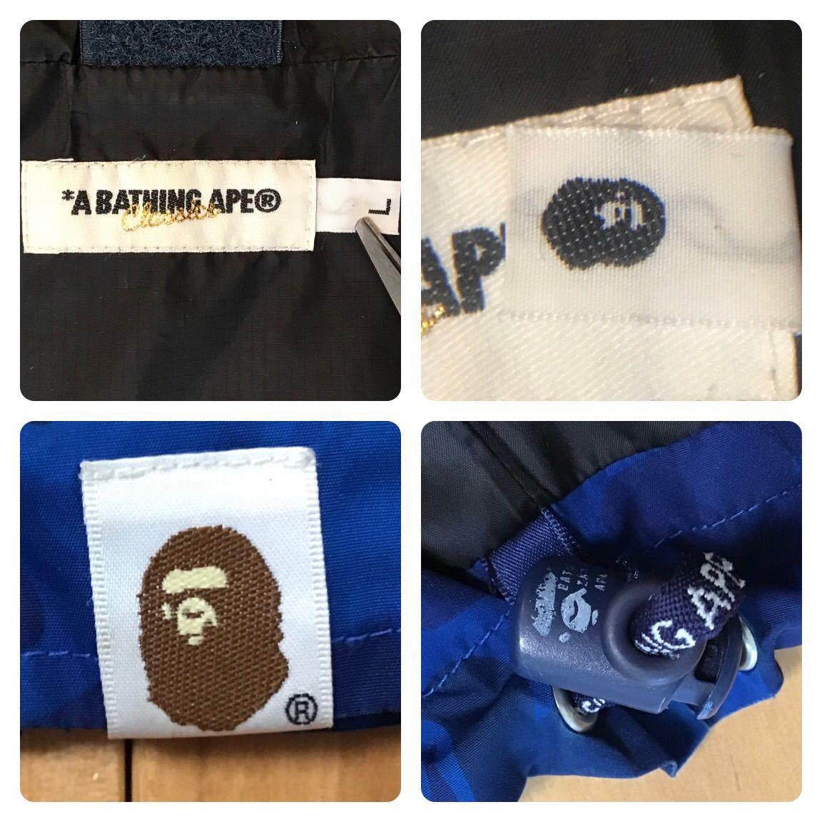 Fire camo スノボジャケット Lサイズ a bathing ape BAPE snow board jacket エイプ ベイプ アベイシングエイプ blue camo ファイヤーカモ