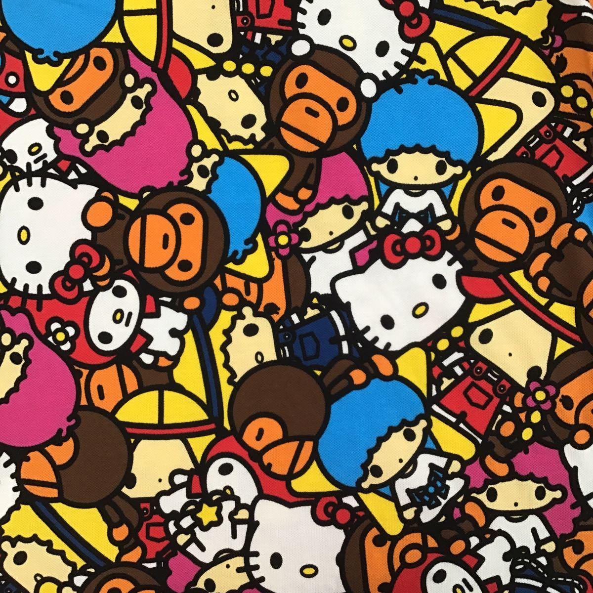 ★伊勢丹新宿店限定★ SANRIO × BAPE マイロ サファリ ポロシャツ Mサイズ a bathing ape サンリオ エイプ ベイプ milo kitty キティ tp5