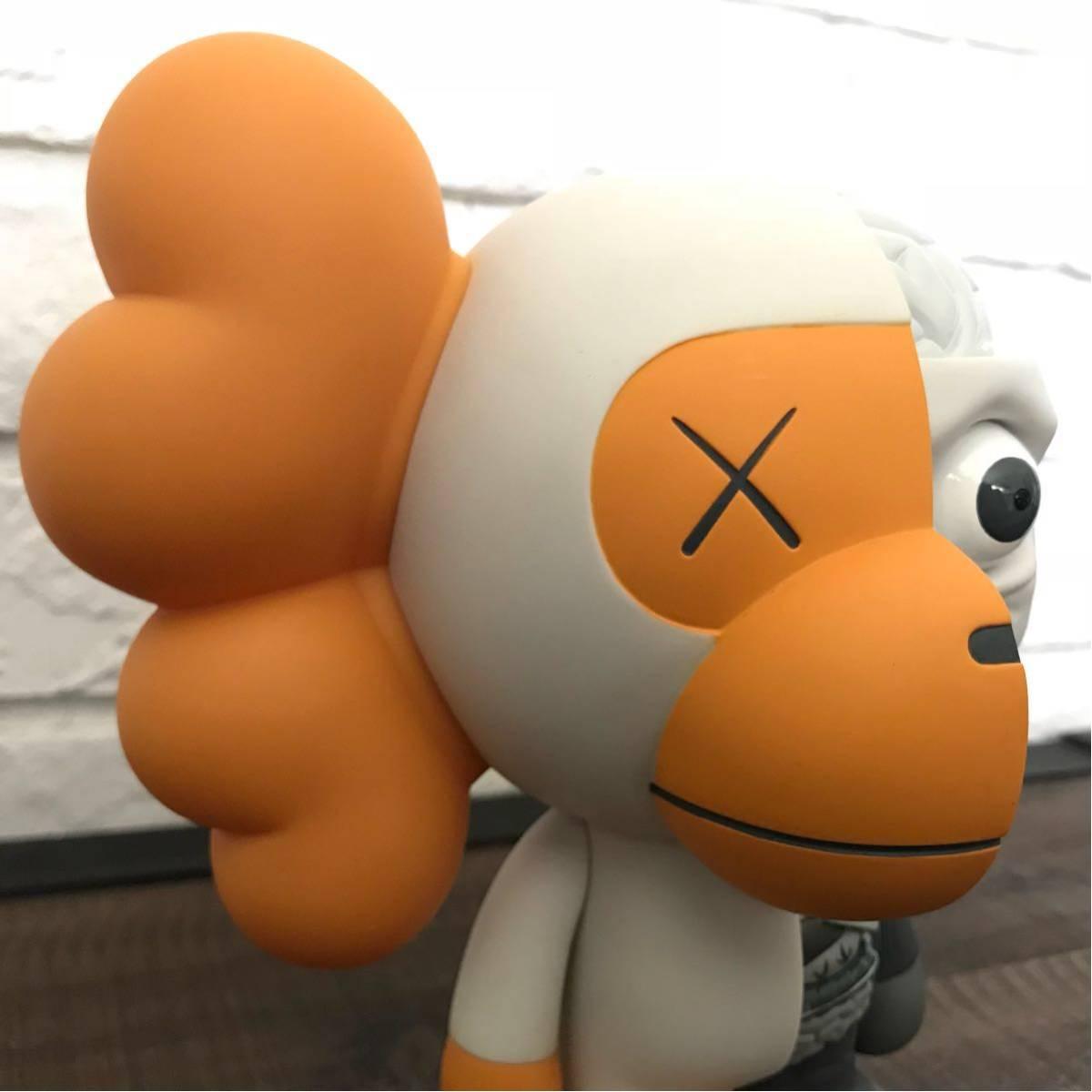 ★激レア★ BAPE × OriginalFake kaws milo フィギュア white a bathing ape カウズ マイロ オリジナルフェイク エイプ ベイプ Figure