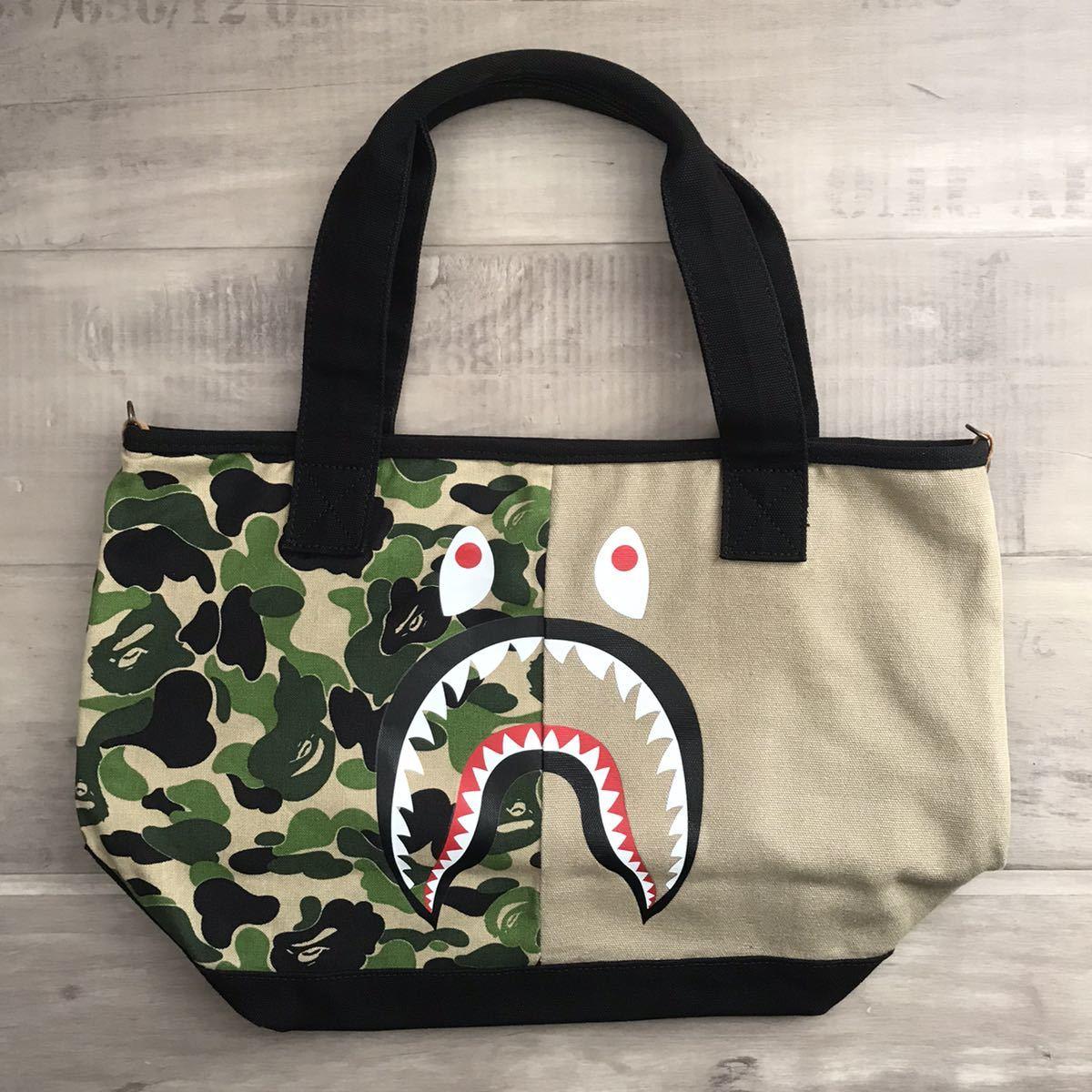 ABC camo シャーク トートバッグ a bathing ape BAPE shark tote bag エイプ ベイプ アベイシングエイプ バッグ ABCカモ 迷彩