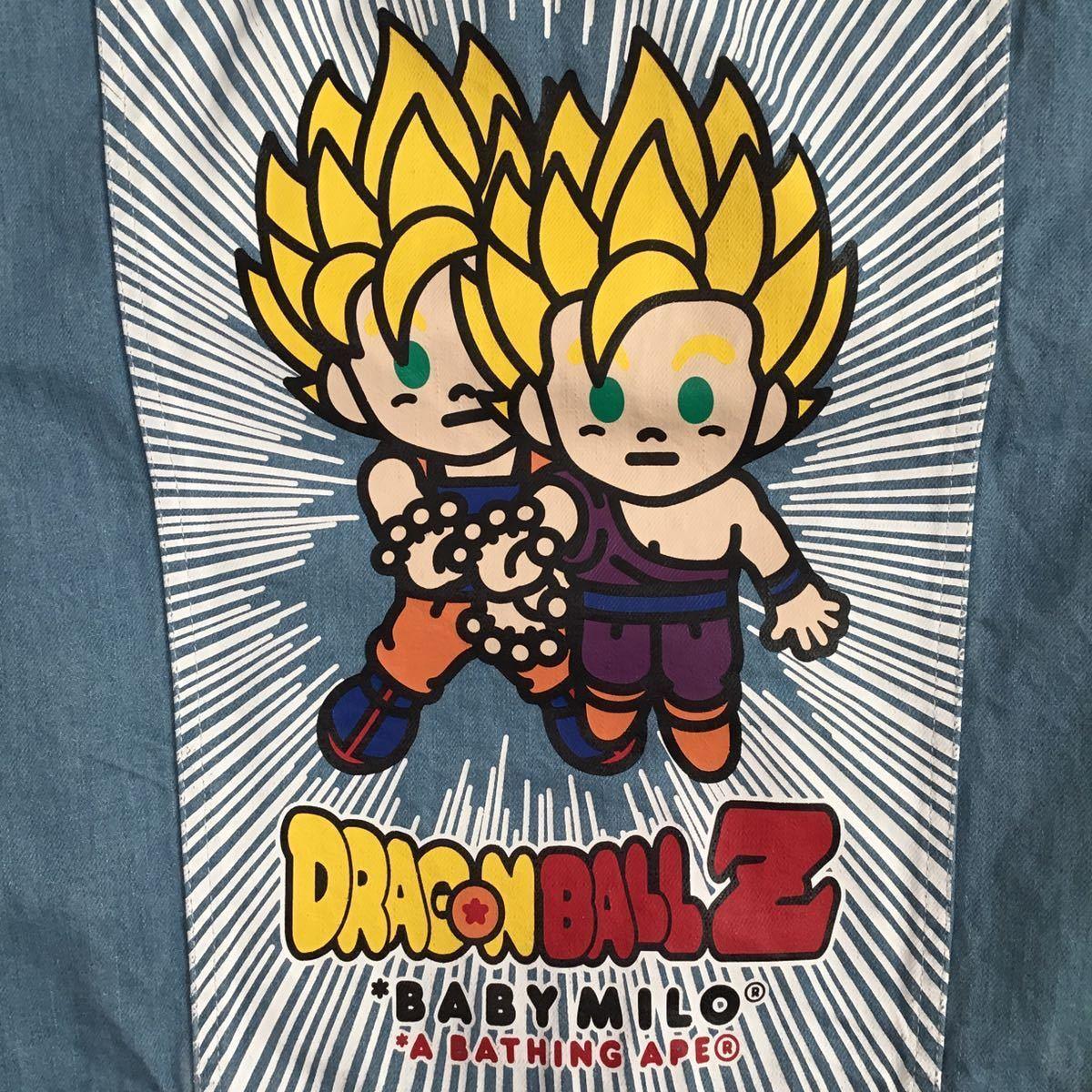 ドラゴンボール × BAPE デニムジャケット Lサイズ a bathing ape dragonball z エイプ ベイプ アベイシングエイプ denim jacket milo 悟空