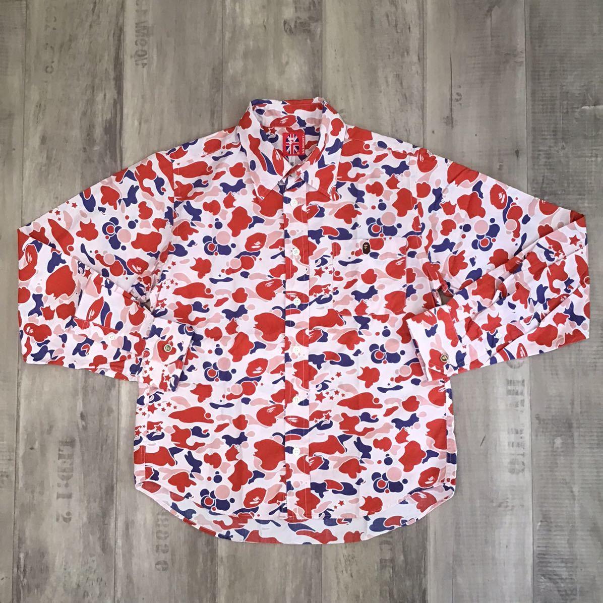 sta camo pink 長袖シャツ XSサイズ a bathing ape bape エイプ ベイプ アベイシングエイプ psyche サイケ 迷彩 裏原宿 NOWHERE 2tv