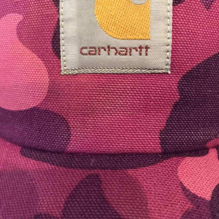 ★激レア★ カーハート × bape スナップバック キャップ carhartt a bathing ape エイプ ベイプ アベイシングエイプ cap purple camo b