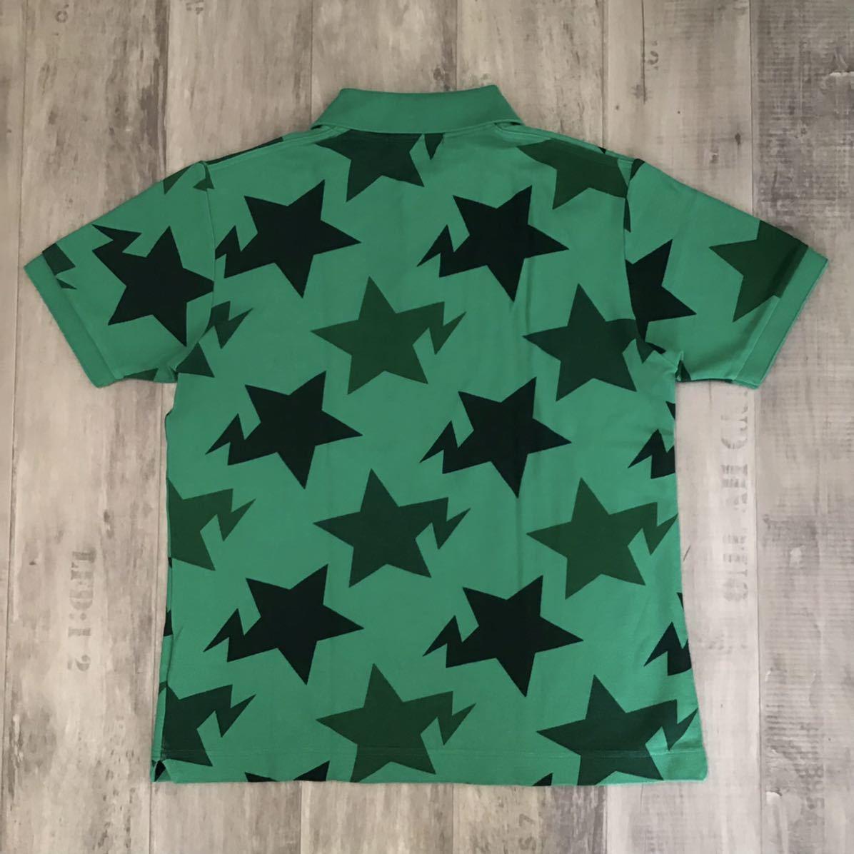 ★渋谷限定★ Shibuya limited star ポロシャツ Mサイズ a bathing ape bape sta エイプ ベイプ スター アベイシングエイプ star j05
