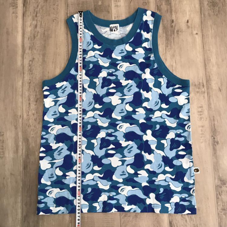★レア★ ABC camo blue タンクトップ Mサイズ a bathing ape bape エイプ ベイプ アベイシングエイプ ABCカモ 迷彩 tank top nigo