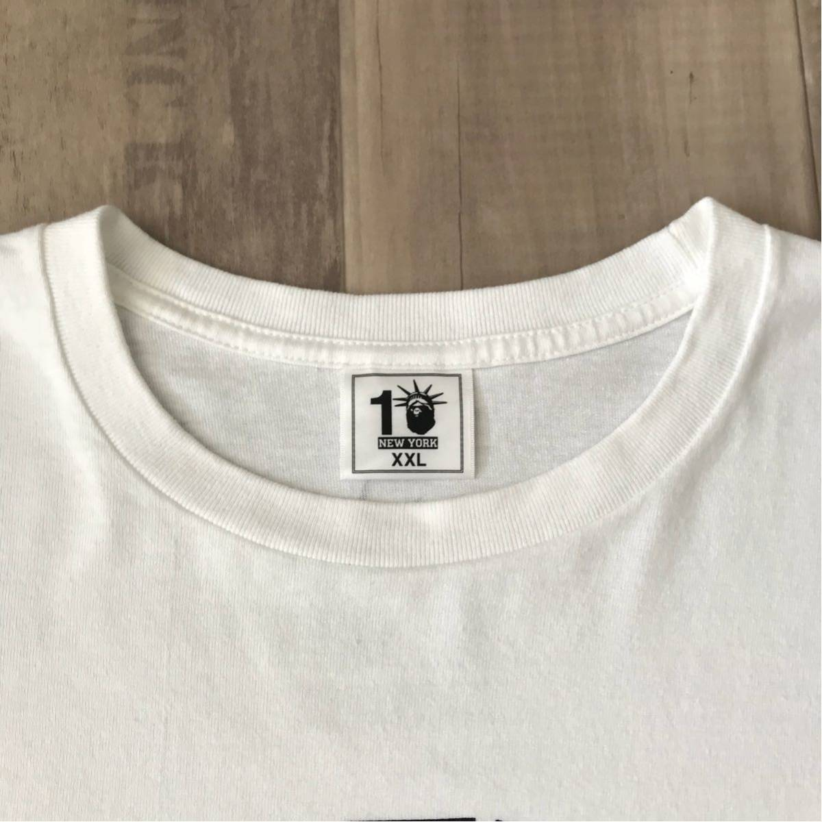 ★激レア★ futura NYC 10th カレッジロゴ 長袖 Tシャツ XXL a bathing ape bape NY ニューヨーク 10周年 エイプ ベイプ college logo 2XL