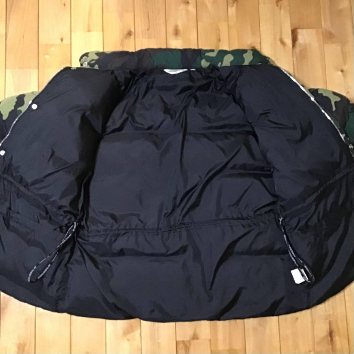 ★XL★ woodland camo ダウンジャケット a bathing ape BAPE down jacket エイプ ベイプ アベイシングエイプ 迷彩 ウッドランドカモ