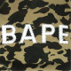 スワロフスキー 1st camo yellow 半袖 スウェット Mサイズ a bathing ape bape swarovski ラインストーン エイプ ベイプ 迷彩 dd52