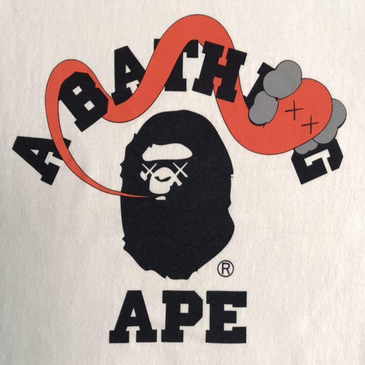 kaws × bape カレッジロゴ ロンT Mサイズ カウズ a bathing ape ベイプ オリジナルフェイク original fake エイプ アベイシングエイプ