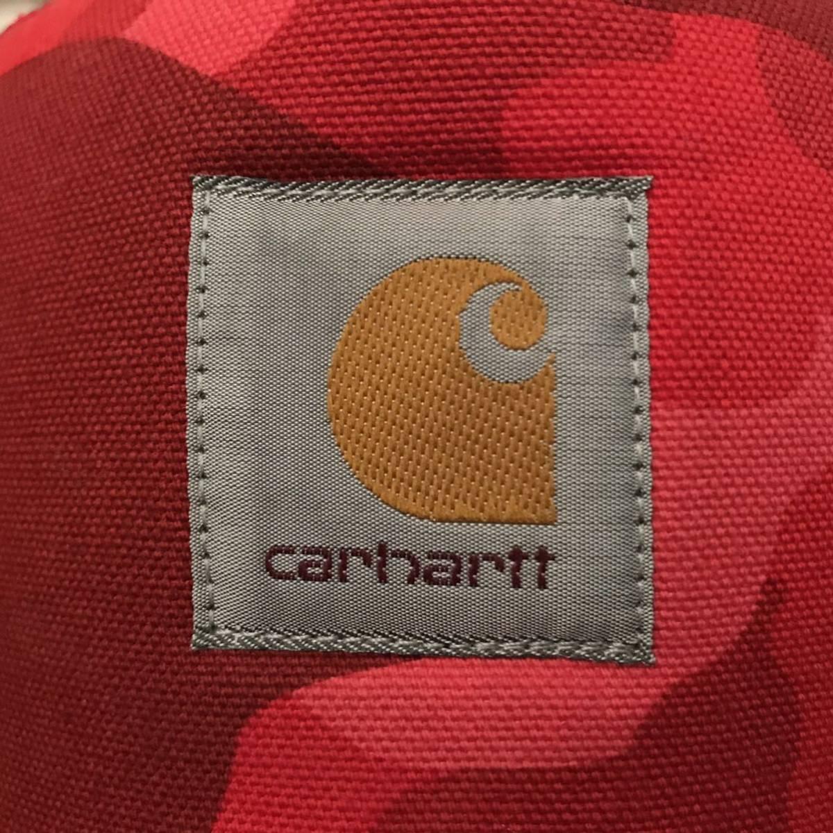 ★美品★ carhartt × bape スナップバック キャップ カーハート a bathing ape エイプ ベイプ cap 帽子 trucker hat red camo レッドカモ
