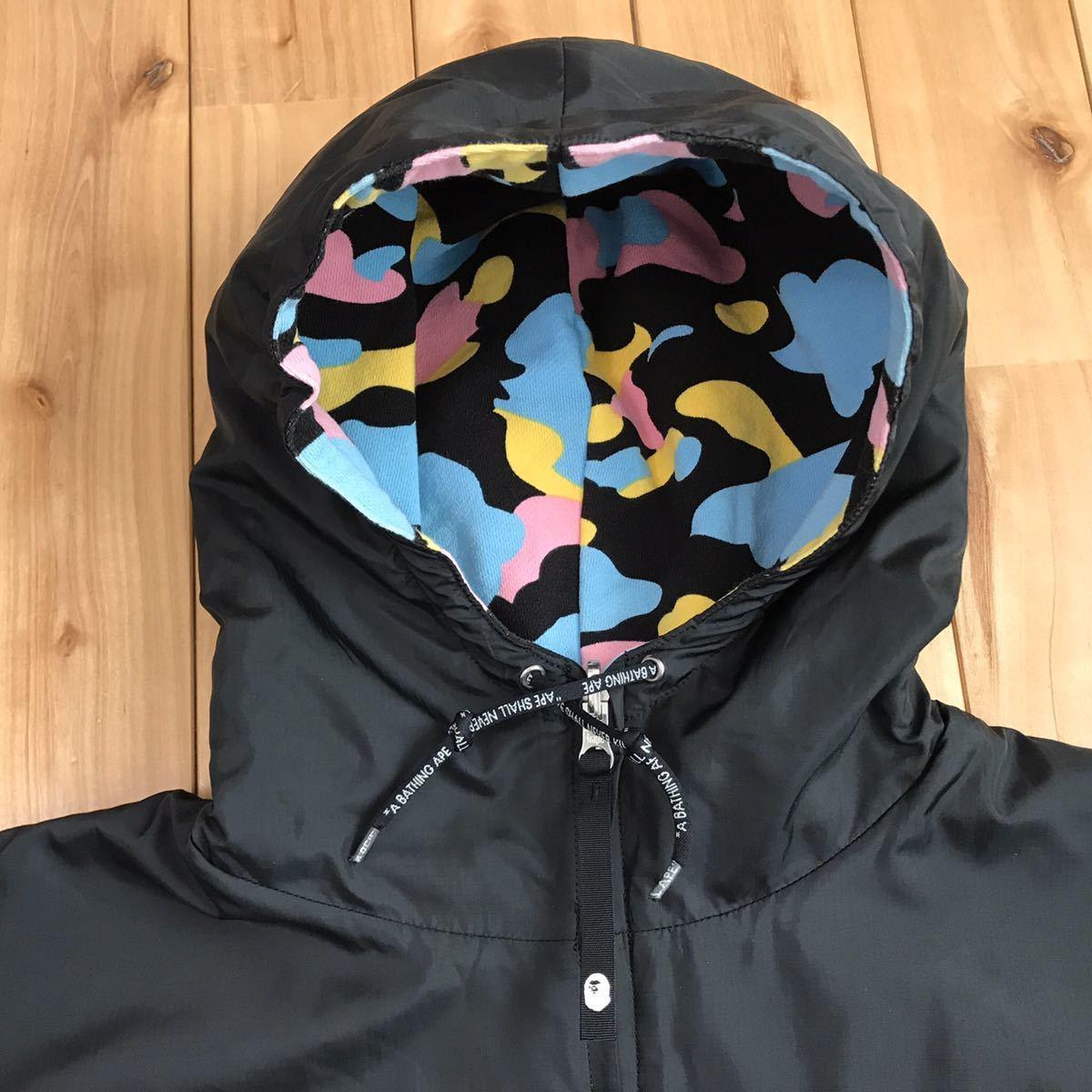 ★リバーシブル★ マルチカモ パーカー Lサイズ a bathing ape BAPE hoodie cotton candy camo multi jacket エイプ ベイプ ブルゾン 1109