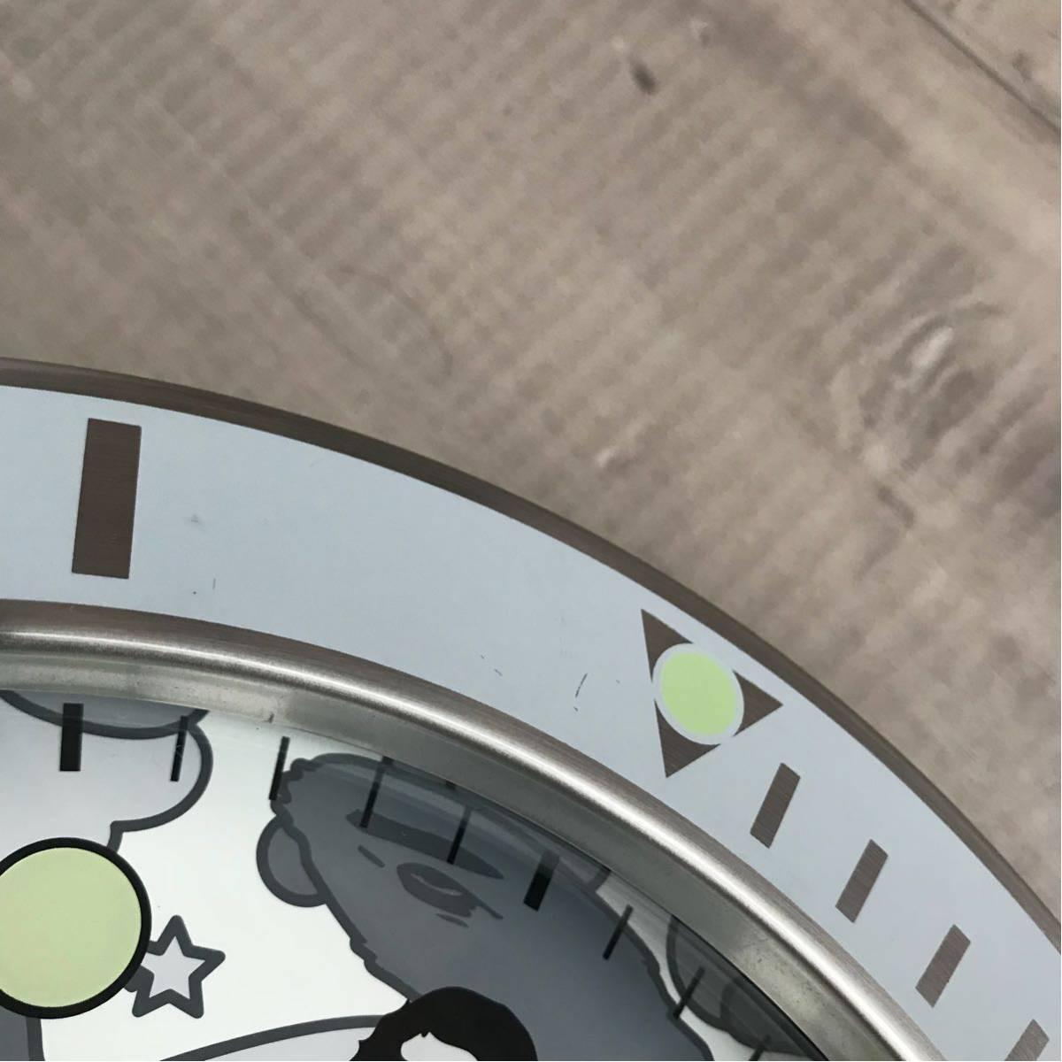 ★激レア★ BAPEX wall clock sta camo ウォール クロック 掛け時計 a bathing ape BAPE エイプ ベイプ 時計 psyche camo サイケカモ white