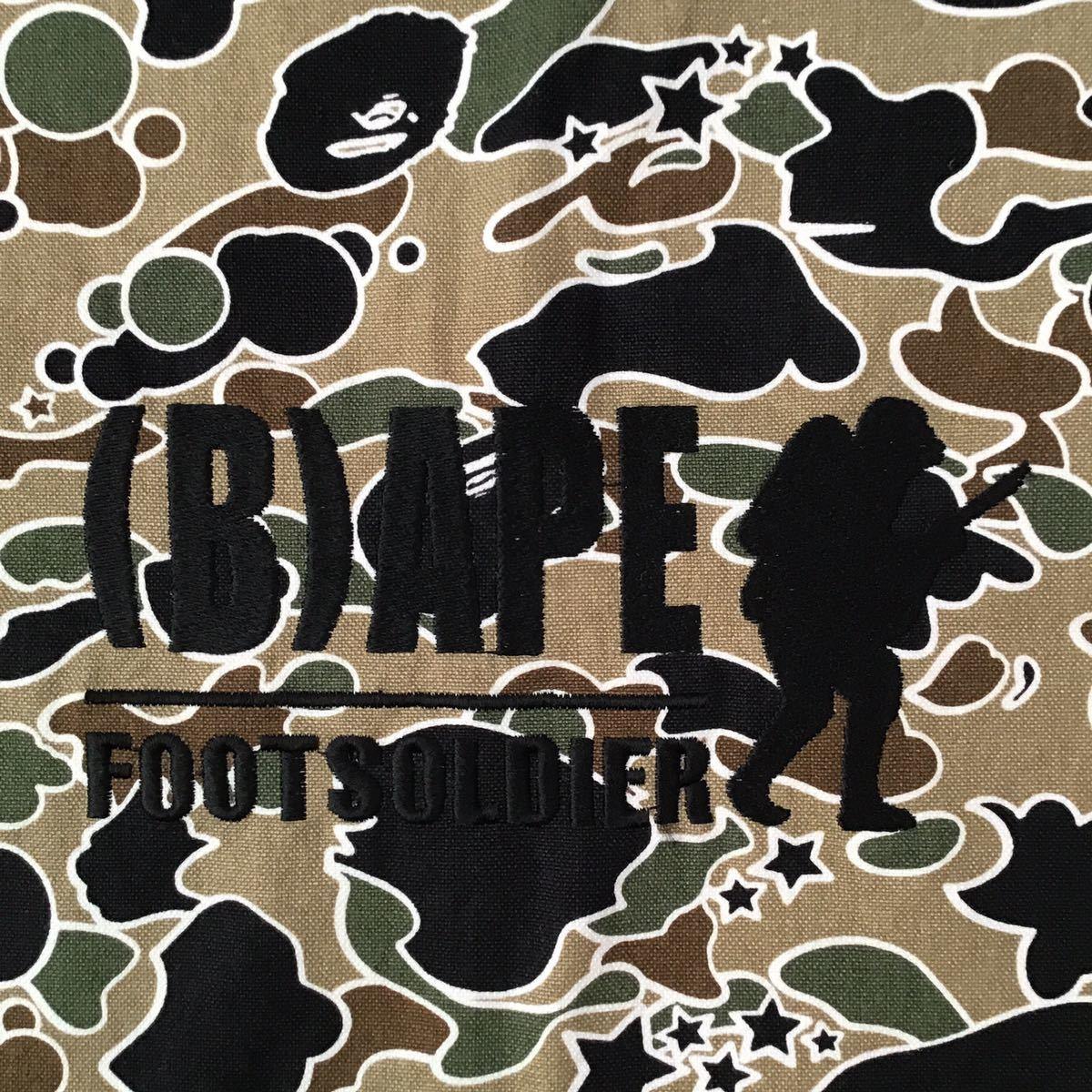 sta camo 巾着袋 a bathing ape bape foot soldier バッグ bag エイプ ベイプ フットソルジャー psyche camo 迷彩 nigo 2532