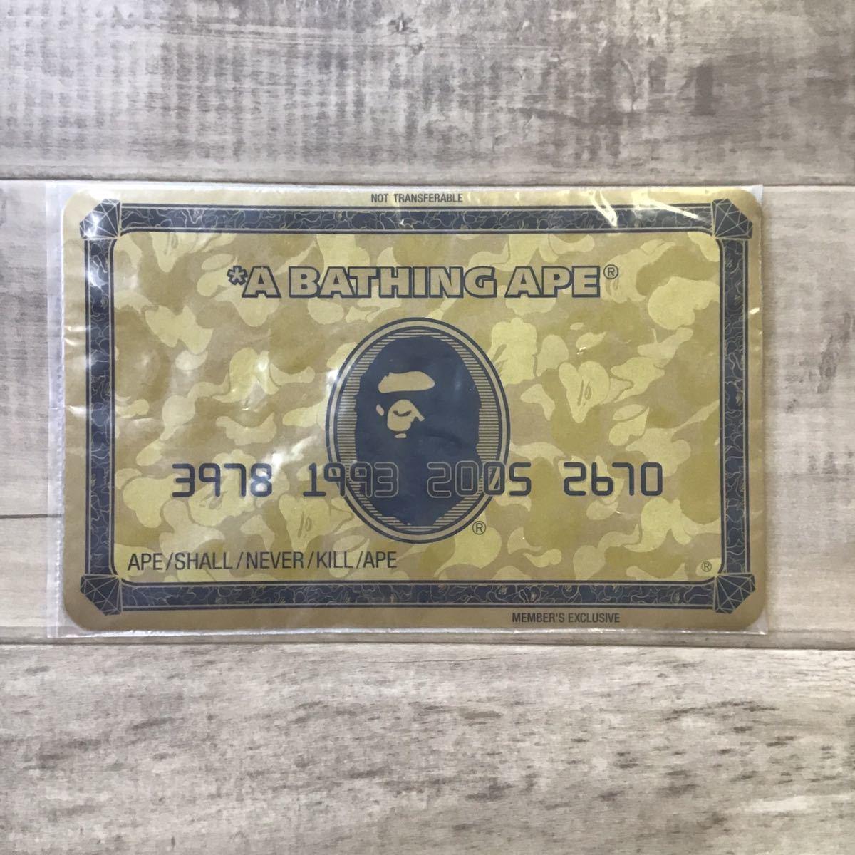 ★会員限定★ マウスパッド ゴールド会員 a bathing ape bape エイプ ベイプ アベイシングエイプ 非売品 ノベルティ コレクション 6294