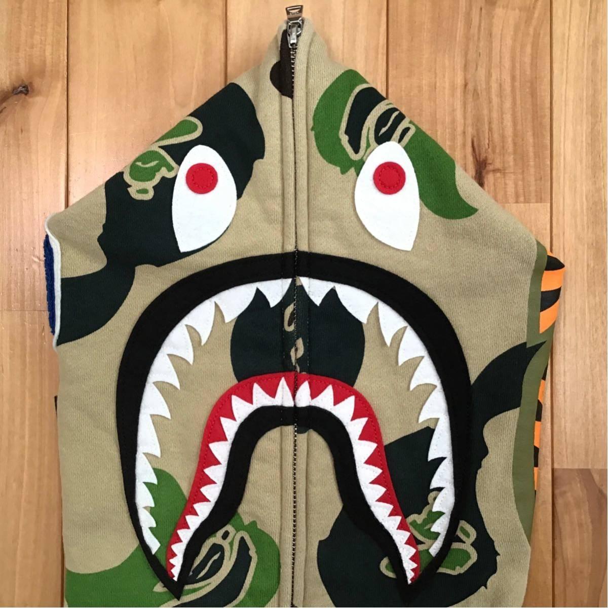 Def camo シャーク パーカー Mサイズ shark full zip hoodie a bathing ape bape エイプ ベイプ アベイシングエイプ 迷彩 WGM 232t