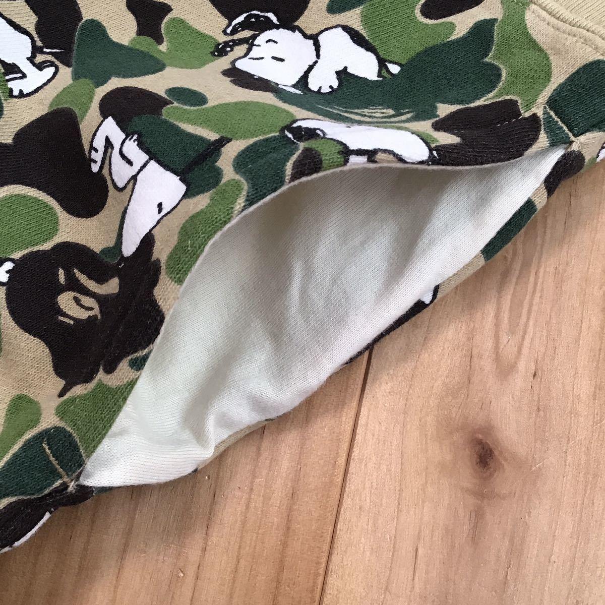 SNOOPY × BAPE ABC camo スウェット ハーフパンツ Lサイズ a bathing ape bape ショーツ shorts スヌーピー peanuts エイプ ベイプ 迷彩 t