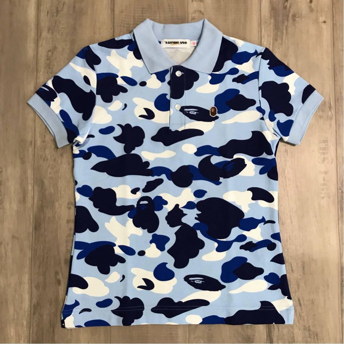 ★名古屋限定★ nagoya city camo レディース ポロシャツ XSサイズ a bathing ape bape エイプ ベイプ アベイシングエイプ 都市限定 迷彩