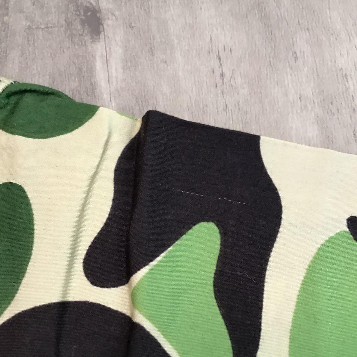 アロハシャツ ABC camo green Sサイズ a bathing ape bape ABCカモ 半袖シャツ エイプ ベイプ アベイシングエイプ 迷彩 aloha shirt 0858