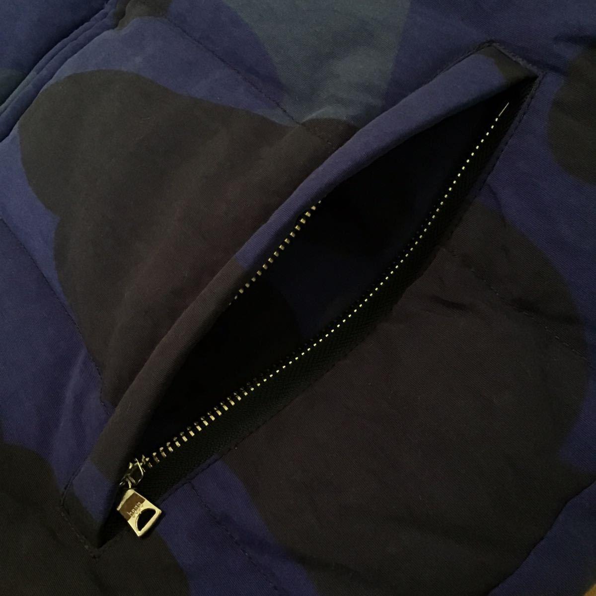 ダウンジャケット giant camo blue Sサイズ a bathing ape BAPE down jacket エイプ ベイプ アベイシングエイプ zoom camo 迷彩 5858