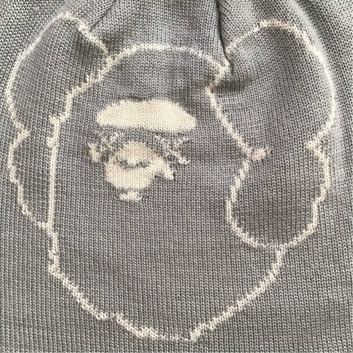 ★激レア★ KAWS × BAPE ニット帽 ビーニー a bathing ape Beanie カウズ エイプ ベイプ アベイシングエイプ grey nigo 帽子 6da