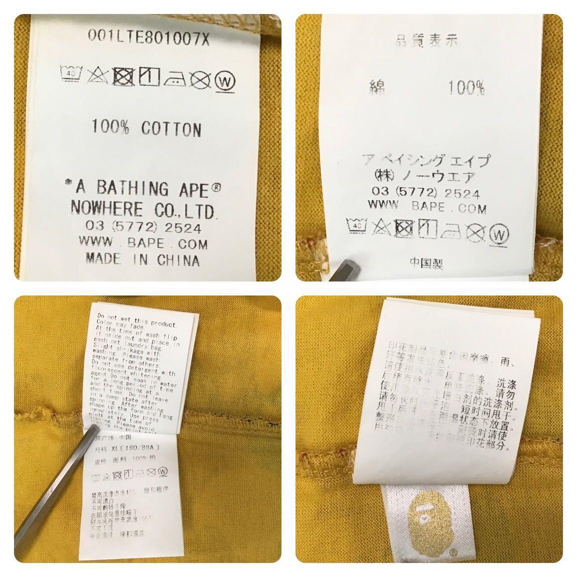 ★XL★ orange camo 長袖 Tシャツ a bathing ape BAPE 1st camo エイプ ベイプ アベイシングエイプ 迷彩 オレンジカモ j65