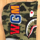 中綿キルティング シャーク パーカー Lサイズ shark full zip hoodie スタジャン a bathing ape bape camo エイプ ベイプ WGM 1888