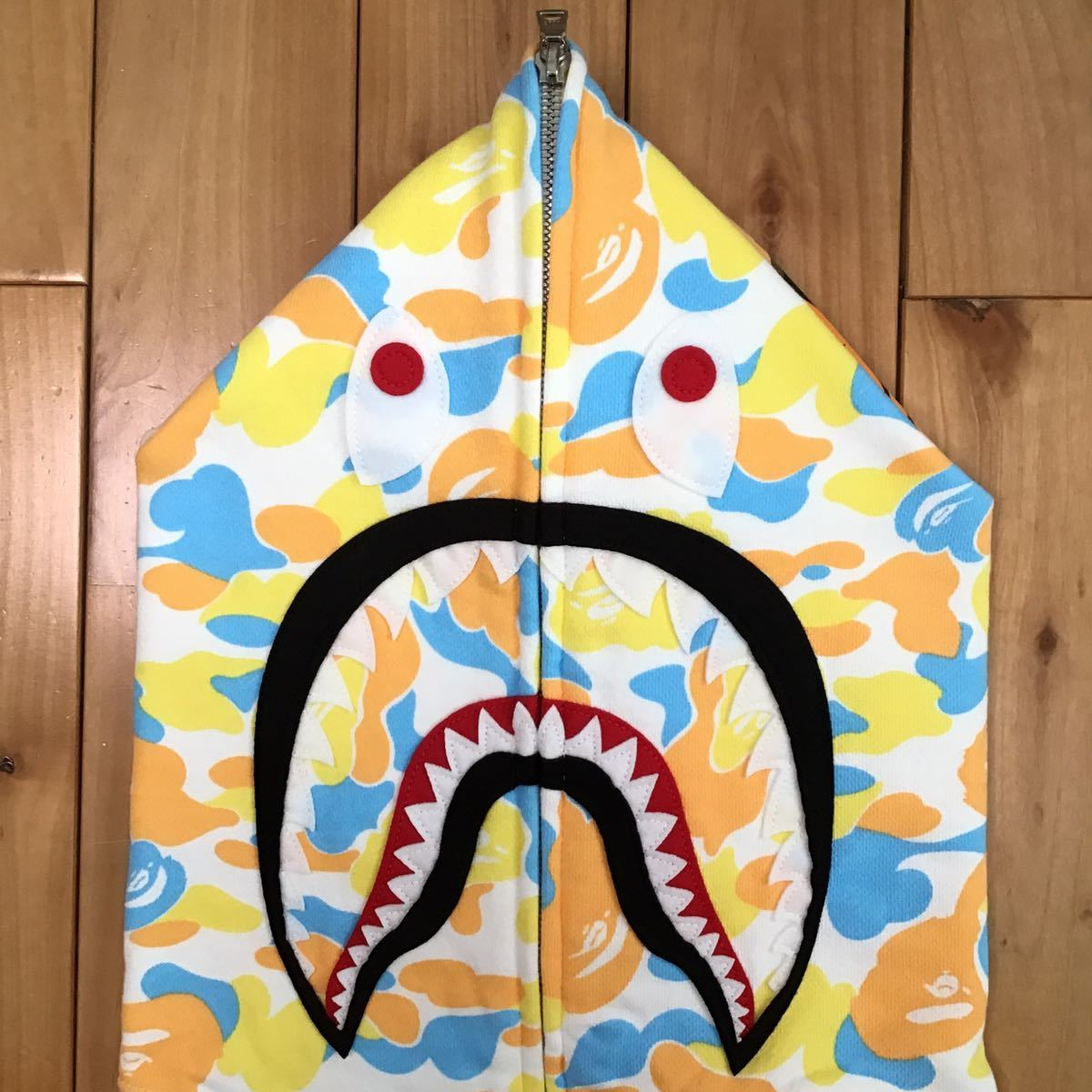 ★札幌限定★ sapporo city camo シャーク パーカー Lサイズ shark full zip hoodie a bathing ape BAPE エイプ ベイプ 都市限定 迷彩 115