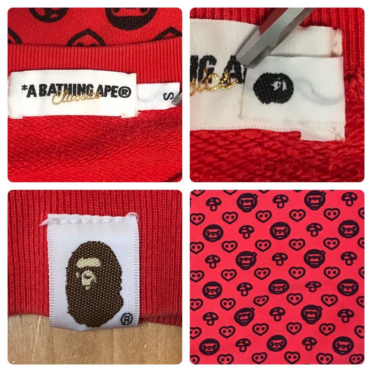 マイロ モノグラム 長袖スウェット Sサイズ a bathing ape bape baby milo Monogram sweat エイプ ベイプ アベイシングエイプ nigo 2315