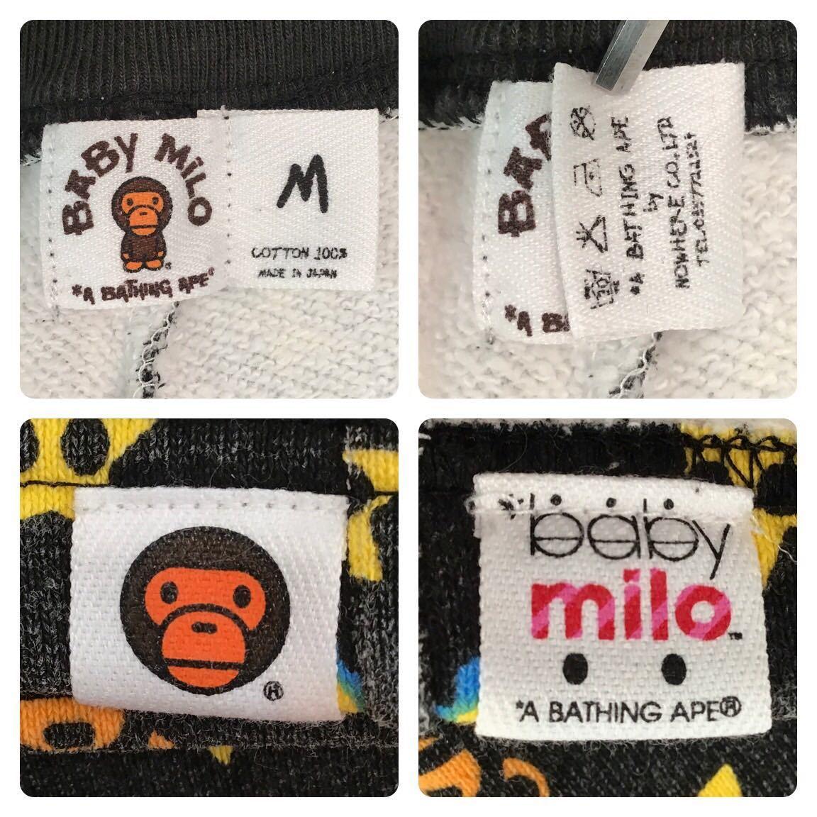 milo monogram スウェット ハーフパンツ Mサイズ a bathing ape BAPE sweat shorts エイプ ベイプ アベイシングエイプ マイロ モノグラム w