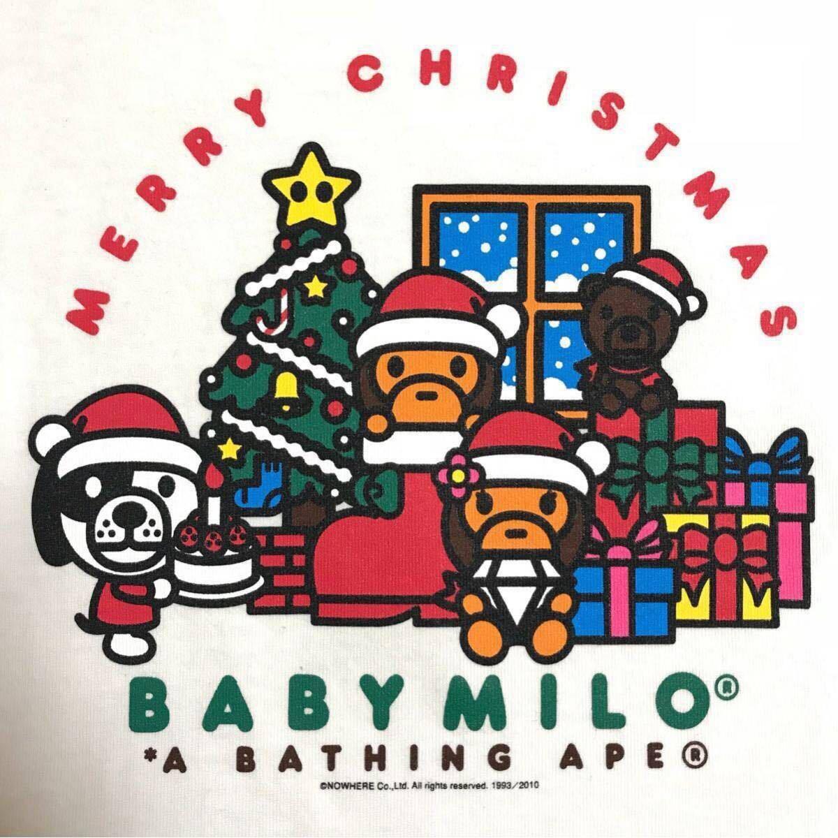 baby milo merry christmas Tシャツ レディース Sサイズ マイロ リサ クリスマス a bathing ape bape エイプ ベイプ アベイシングエイプ