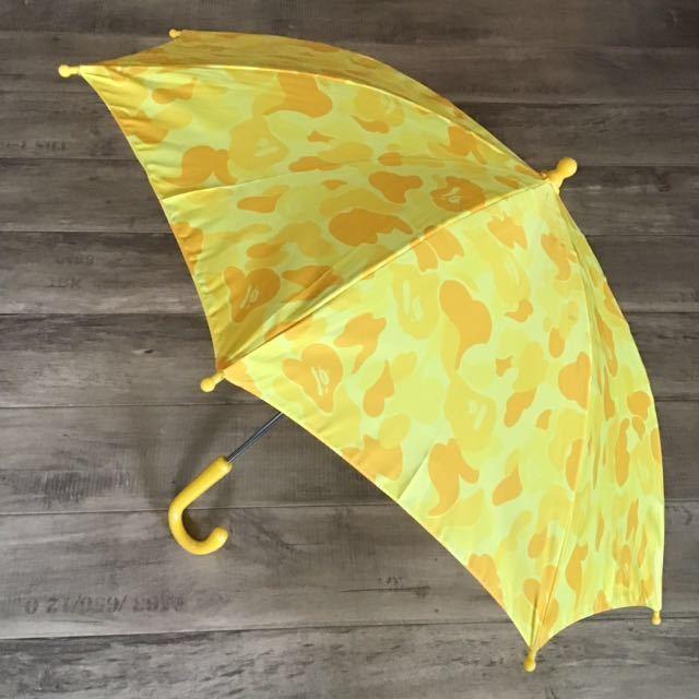 ★激レア★ KIDS color camo 傘 a bathing ape bape エイプ ベイプ アベイシングエイプ umbrella カモフラ キッズ 迷彩 yellow camo