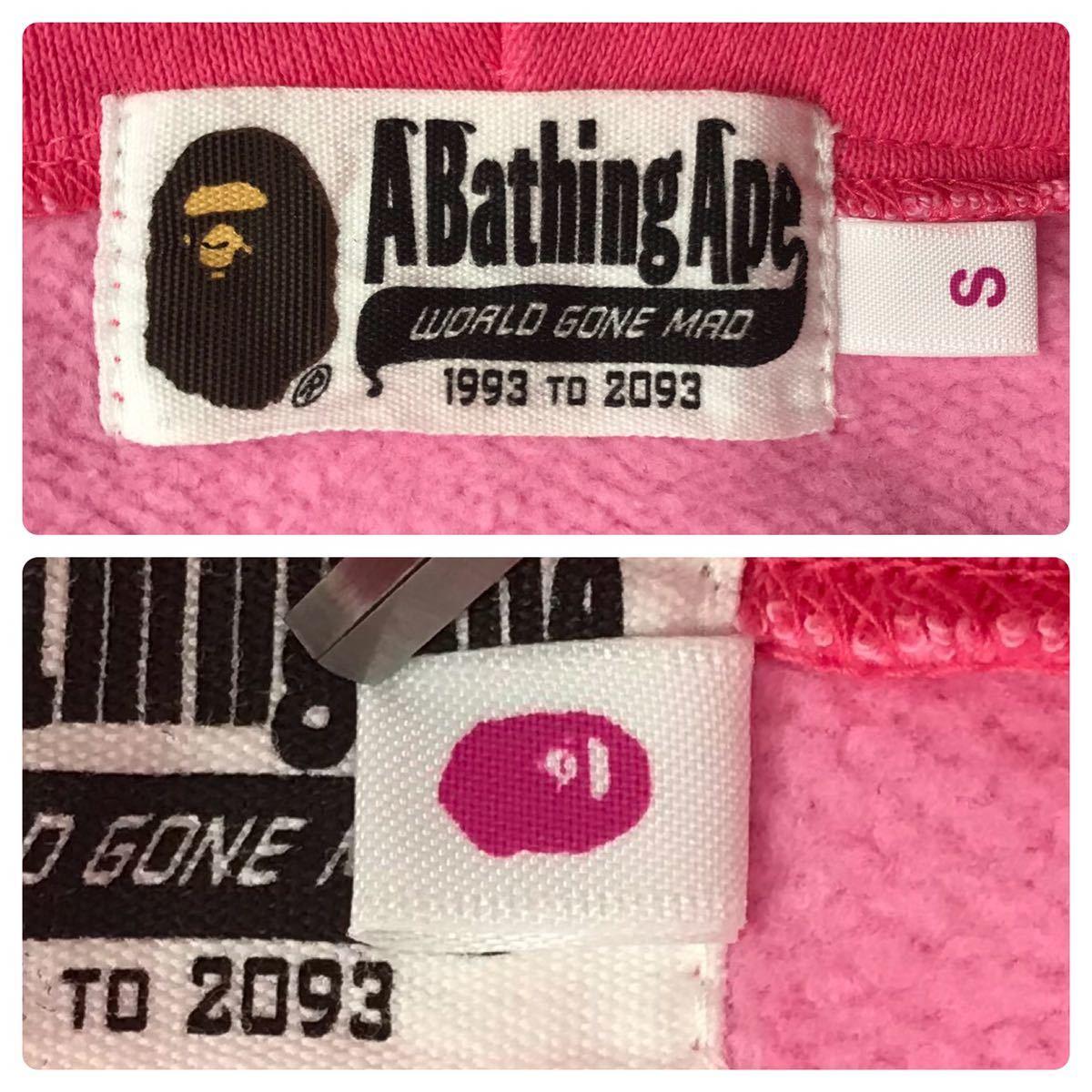 pink camo シャーク パーカー レディース Sサイズ shark full zip hoodie a bathing ape bape エイプ ベイプ アベイシングエイプ ピンク