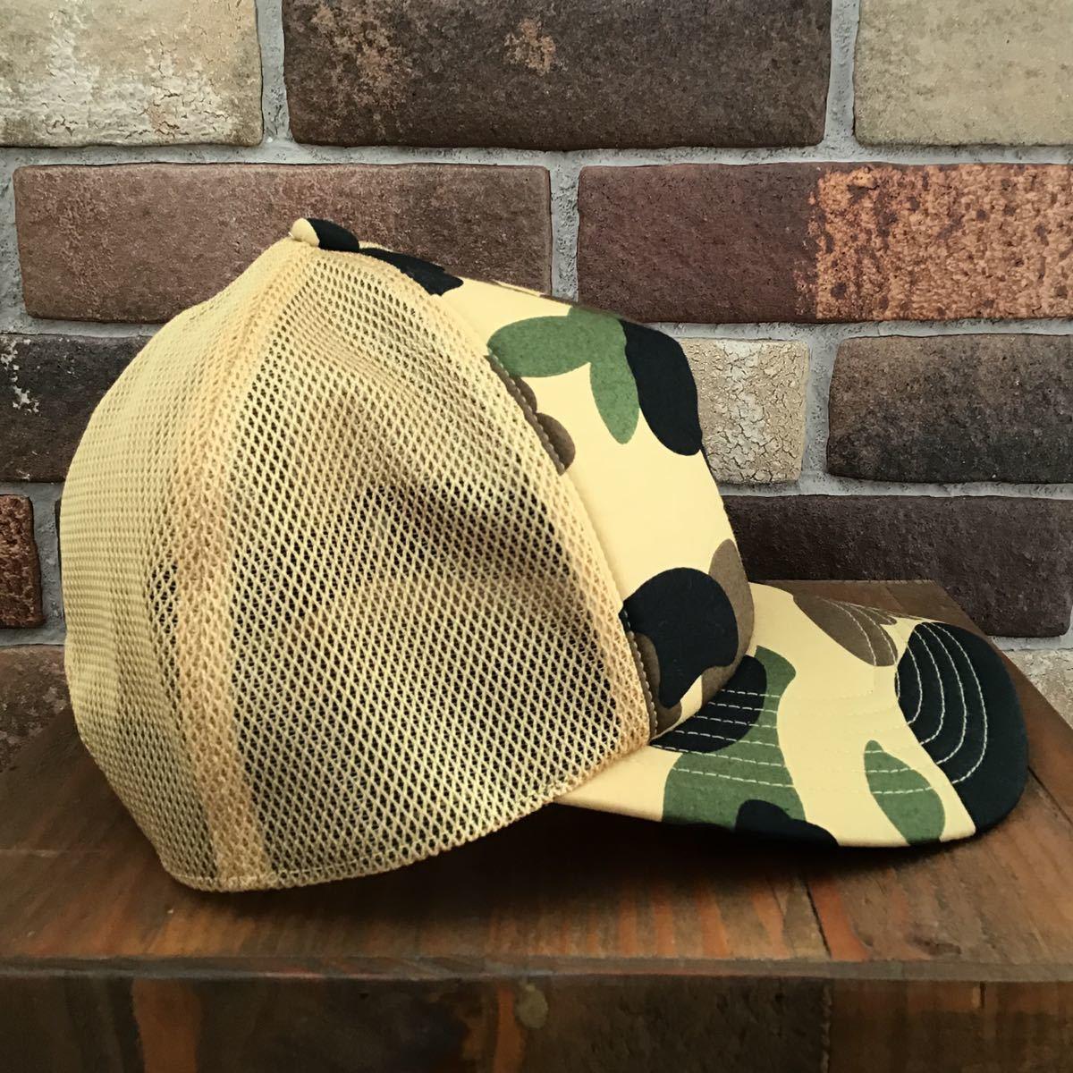 ★新品★ BAPE × stussy 30周年記念 1st camo trucker hat a bathing ape エイプ ベイプ ステューシー logo 30th cap キャップ 帽子 2124