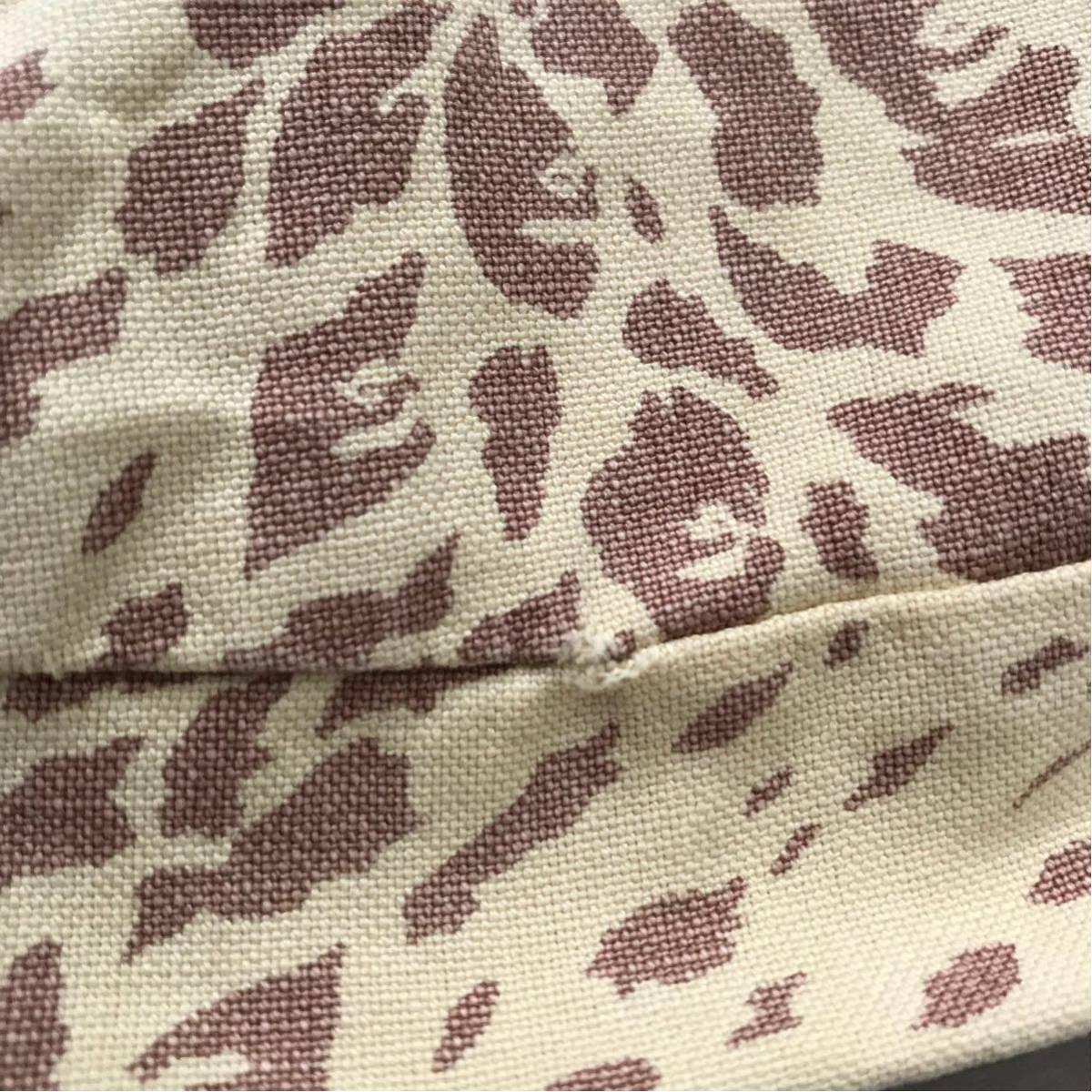 ★激レア★ 初期 レオパードカモ クッションカバー a bathing ape bape エイプ ベイプ アベイシングエイプ クッション 豹柄 Leopard camo
