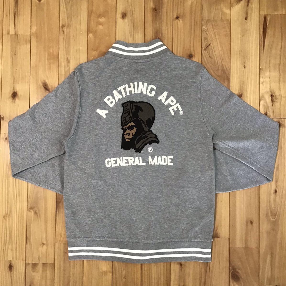 General スウェット スタジャン Sサイズ a bathing ape BAPE sweat varsity jacket エイプ ベイプ アベイシングエイプ vintag nigo g80