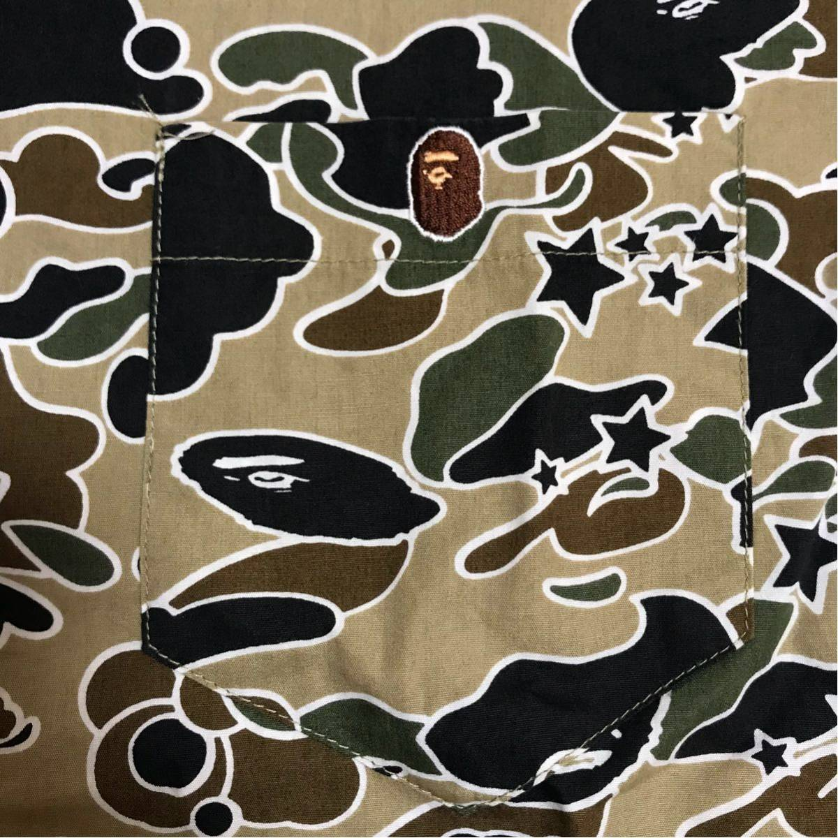 ★美品★ sta camo BD長袖シャツ a bathing ape bape エイプ ベイプ アベイシングエイプ psyche サイケ カモフラ 迷彩 裏原宿 NOWHERE