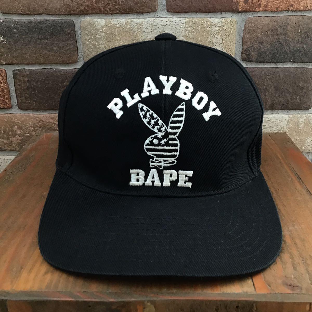★激レア★ PLAYBOY × BAPE キャップ a bathing ape プレイボーイ trucker hat cap エイプ ベイプ アベイシングエイプ 帽子 3131